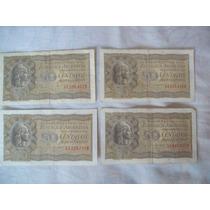 Lote De 4 Billetes Antiguos Argentinos De 50 Centavos M/n