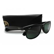 Óculos De Sol Ray-ban Wayfarer Rb2140 Preto Fosco Original