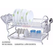 Escurridor Platos Vaso Cubierto Aluminio Factura A