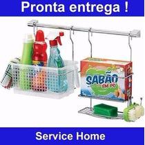 Service Home 01 Armário Organizador Lavanderia Prateleira