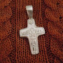 Dije Cruz Buen Pastor - Papa Francisco.- Plata 925 D39