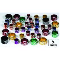 Anilhas 4,5mm Colorida Agaporni Alumínio Personalizada 10und