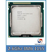 Procesador Intel Pentium G620 Dual Core 2.6ghz 3mb 1155