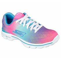 Zapatos Skechers Para Damas Go Walk 3 14032 - Mult