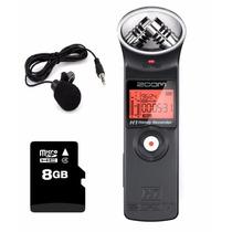 Gravador Zoom H1 - Kit Com Microfone De Lapela E Cartão 8gb