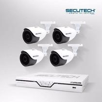 Kit De 4 Cámaras De Seguridad Secutech C/ Disco Duro 500gb