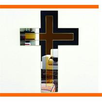 Espelho Decorativo Crucifixo Grande - Sala 56x40cm