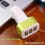 Triplo Adaptador Carregador Veicular Usb Plug Automotivo P19