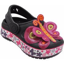 Atacado12 Sapato Infantil Borboleta Pret Igual Crocs Babuche
