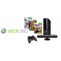 Xbox 360 Slim + Kinect + 3 Jogos