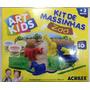 Kit De Massinhas 450g Moldes 3d Art Kids Acrilex.