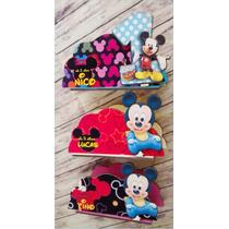 Servilleteros Souvenirs Mickey Mouse Bebe X 3 Unidades