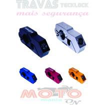 Trava Moto De Punho Manete Tecklock An Furt Freio Acelerador