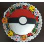 Torta Pokemon 2 Kg + 12 Cupcakes Rellenos De D/l O 24 Mini