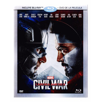Capitan America Civil War Guerra Pelicula Blu-ray + Dvd