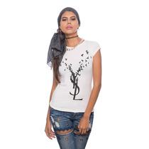 Franela Blanca Ysl Pajaritos Saints Clothes