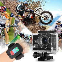 Camara De Accion Wifi 12mp+disparador Wifi+accesorios +gopro