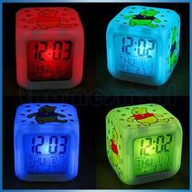 Reloj Led Despertador Cubo Winnie The Pooh