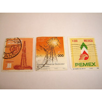 Estampillas Mexico 3 Pzas Pemex--cfe--pemex.