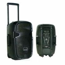 Parlante Potenciado Bluetooth 2 Mic Fm Bateria 12v Control