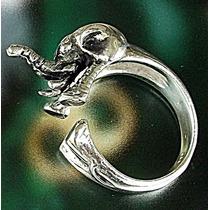 Anillo De Elefante Africano En Plata Ley.925 Sterling Silver