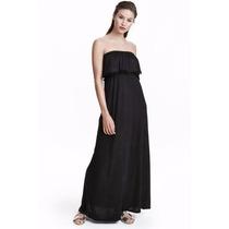 Lilasori Vestido H & M Negro Talla 2 Importado Nuevo Largo