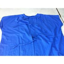Bata Para Paciente En Tela 100% Algodón Indiolino Azul
