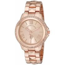 Reloj Mujer U.s. Polo Assn Usc40078 Tono Rosa Dorado