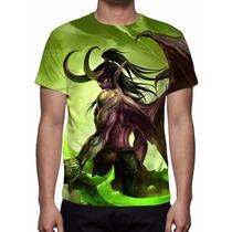 Camisa, Camiseta World Of Warcraft - Illidan - Estampa Total