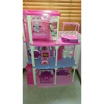 Casa Grande De La Barbie Con Dos Barbies Perfecto Estado