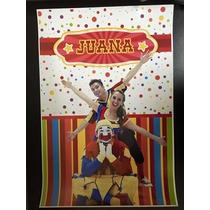 Pack Cotillon Personalizado Piñon Fijo Circo Payaso Para 20
