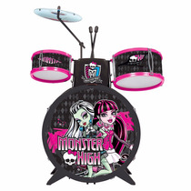 Bateria Monster High Com Banquinho Infantil - Fun Divirta Se