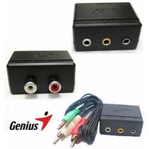 Adaptador Cornetas 5.1 A Stereo Genius Adaptador 3.5mm Rca