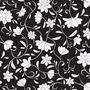 Papel Empapelado Muresco Galia Negro Blanco Flores Lavable