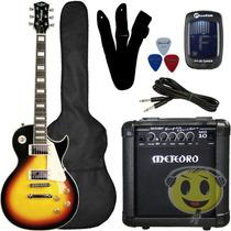 Guitarra Kit Strinberg Les Paul Clp79+ Cubo Mg 10 Kadu Som