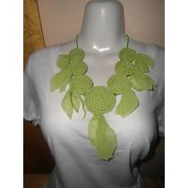 Collar Artesanal De Flores De Tela