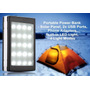 Cargador Portatil Solar Power Bank Celular 12000 Mah + Led