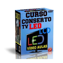 Curso Tv Led Lcd Kit C/ 8 Dvds Video Aulas + Apostila Sony