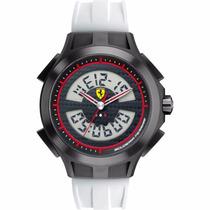 Relógio Ferrari Scuderia 0830020 Preto Branco Red Original