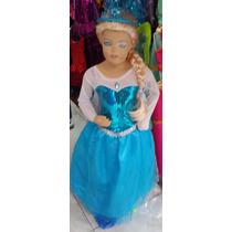 Disfraz Disfraces Vestido Princesa Elsa Frozen Peluca Niñas