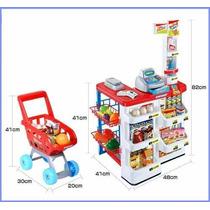 Mini Mercado Com Carrinho De Compras C/16 Acessórios