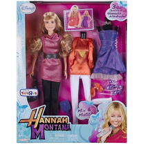 Hannah Montana Muñeca De Moda Con 3 Trajes Reales A Partir