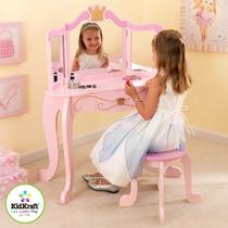 Peinador Tocador Para Niñas Kidkraft De Madera Princesas