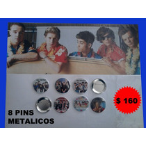 Paquete 8 Pins De One Direction, 1d, Harry, Zayn, Niall, Lia