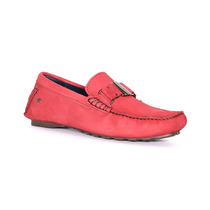 Trender Mocasín Color Rojo, Material Sintetico