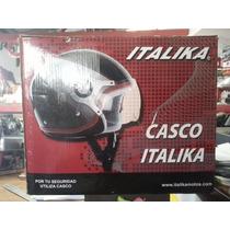 Casco Para Moto Italika Nuevo Modelo 3/4 2011 Mica Y Dot
