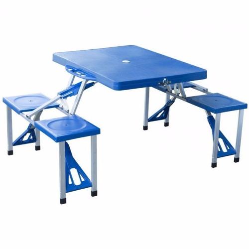 Mesa camping portatil mesa picnic plegable 4 sillas oferta for Mesa plegable mercado libre