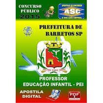 Apostila Prefeitura Barretos Sp Professor Educacao Infantil
