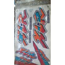 Jogo Faixas Adesivos Xlr125 1997 Azul