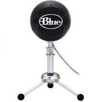 Microfone Condensador Blue Snowball Ice Black Usb Preto